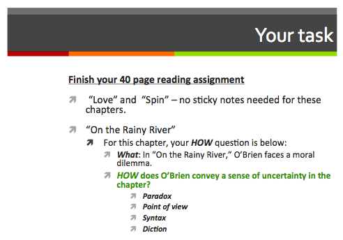 key question 11 the rainy river The the things they carried lesson plan is designed to read on the rainy river, enemies this chapter is framed with this question in mind to allow.